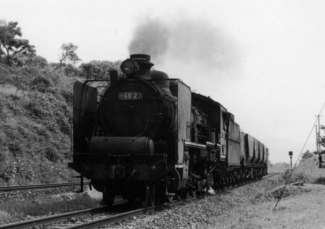 上記と同じ場所のD60貨物列車
