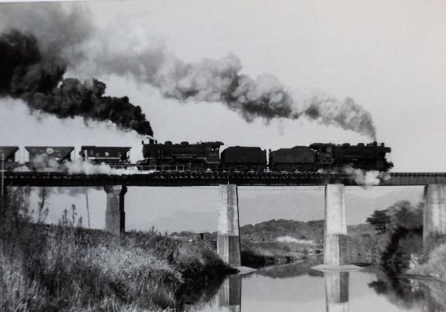 74年頃後藤寺線の名所、通称中元寺川鉄橋