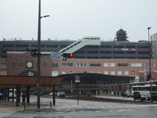 2015年の大分の新駅ビル、巨大だ