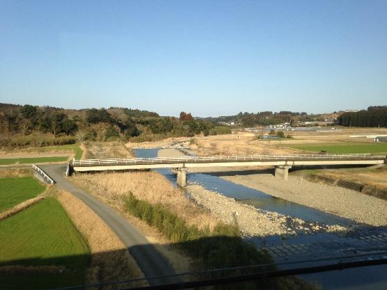 2016年2月田野付近、清武川鉄橋より