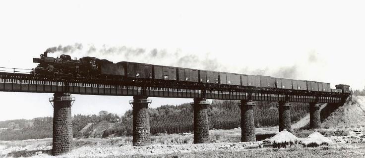 1974年4月の田野付近、清武川の鉄橋