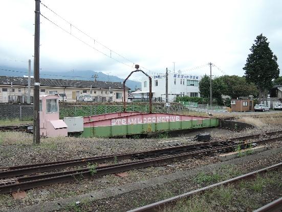 13年9月の宮地駅構内の転車台
